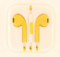 Наушники APPLE iPhone/ iPod/ iPad/ MacBook EarPods (Цвет: Желтый)